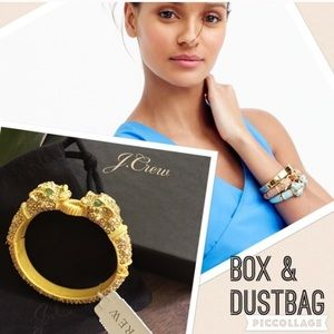 J. Crew Jewelry - NWT J. Crew Pavé Hinge Bracelet + box + dust bag