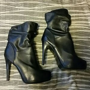 N.Y.L.A. Shoes - N.Y.L.A. Black Platform Booties