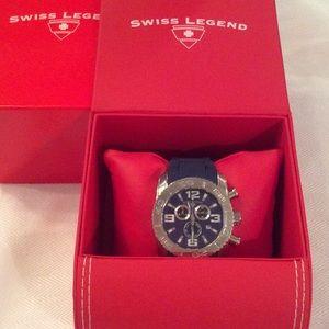 Swiss Legend Other - BRAND NEW Swiss Legend blue rubber band watch