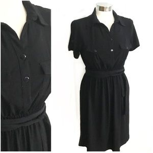 En Focus Dresses & Skirts - En Focus Black Shirt Dress