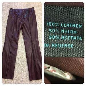 NWT! Siena Studio leather pants