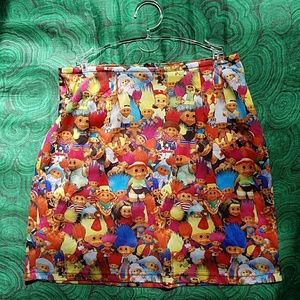Vintage 90s troll mini skirt trippy