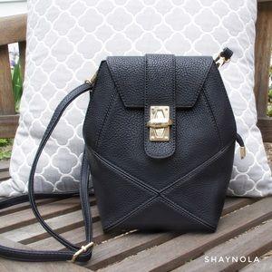 Pink Haley Handbags - Frida Crossbody in Black