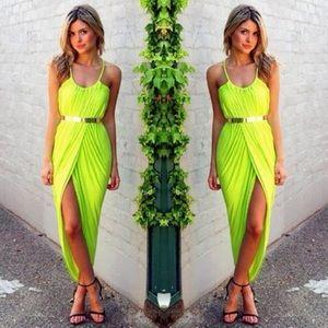 Dresses & Skirts - Beautiful dress with gold belt