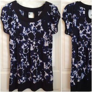 Cato Tops - Dressy tiedye style top dark blue black xl Cato