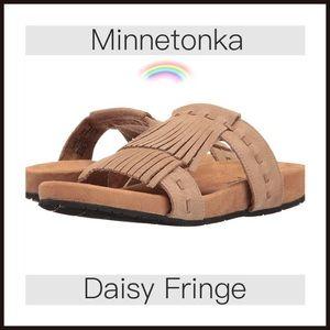 Minnetonka Shoes - Minnetonka Taupe Fringe Daisy Sandal