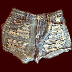 Rainbow Pants - High waisted shorts