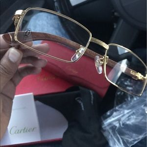 9e95ec76f29 100% Authentic Cartier Gold and Wood Glasses