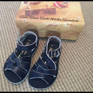 Salt Water Sandals by Hoy Other - NIB Sun-San Saltwater Navy Swimmer Style Sandals