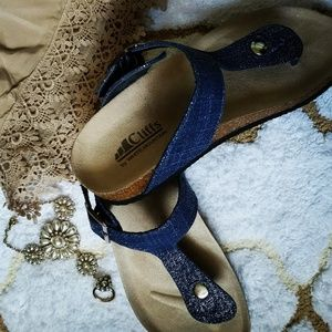 Denim  Birch sandals