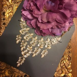 Charming Charlie Jewelry - RSVP pearls & crystals gold color bib necklace