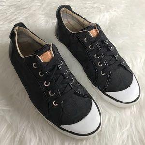 Coach Shoes - Coach Black Barrett Logo Lace Up Sneakers