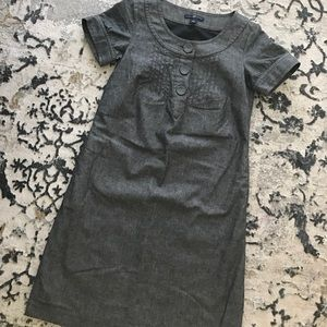 Gray three button dress
