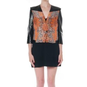 Helmut Lang Jackets & Blazers - Helmut Lang medallion jacquard leather jacket