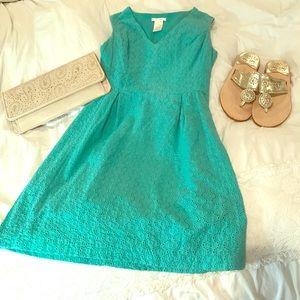 Esley Dresses & Skirts - Esley Eyelet Turquoise Eyelet Dress