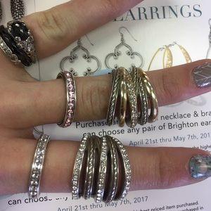 Set of 4 Brighton rings for LORRYL