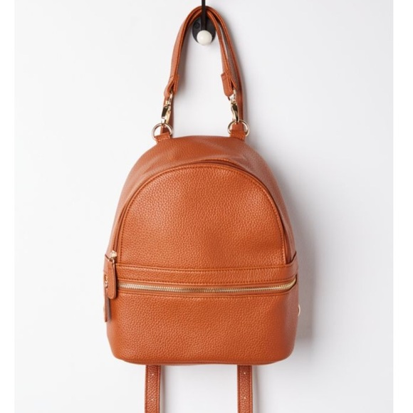 d1ea49ebb5c Brown Faux Leather Mini Backpack 🎒 NWT