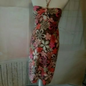 Tommy Bahama Dresses & Skirts - Tommy Bahama Sundress XS Brown Pink Floral