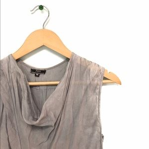 Anthropologie Gray Blouse Sz M