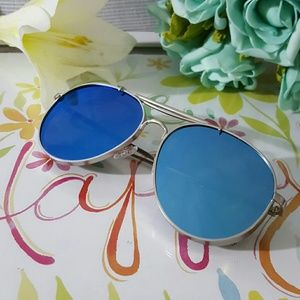 Accessories - Thick Aviator Metal Frame Mirrored Lenses Men woma