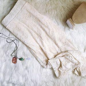 Torrid ivory lace maxi skirt