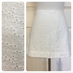 Lilly Pulitzer white eyelet mini skirt