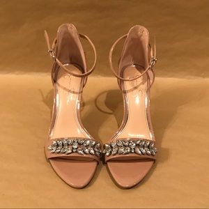 Jessica Simpson Ankle Strap Nude Heels