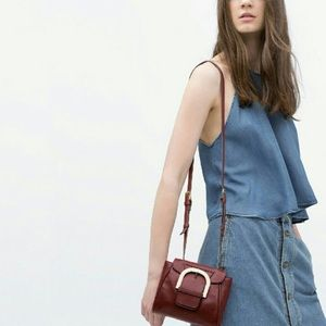 ✨HOST PICK✨NWT Zara Leather messenger bag
