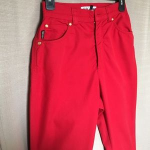 Escada Denim - ESCADA Vintage Red Scarlet Jeans