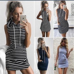 Vogue Vice Dresses & Skirts - NWT black & white stripe hoodie dress
