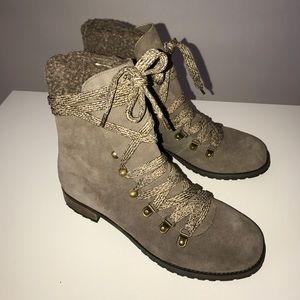 Sole Society Shoes - Suede Combat Boots