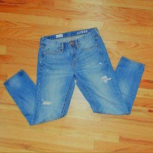 Gap boyfriend destroyed jeans!