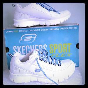 Skechers Shoes - Skechers size 6 11661/WBL white/blue