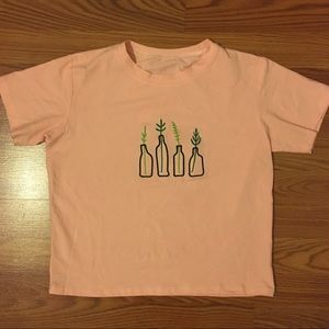 ROMWE Tops - Boxy pink top