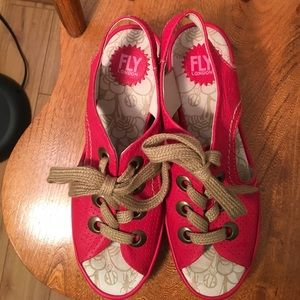 Fly London Shoes - Fun Leather Fly London Lace Sandals. EUC