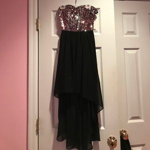 Hailey Logan Dresses & Skirts - Sequin top high low dress