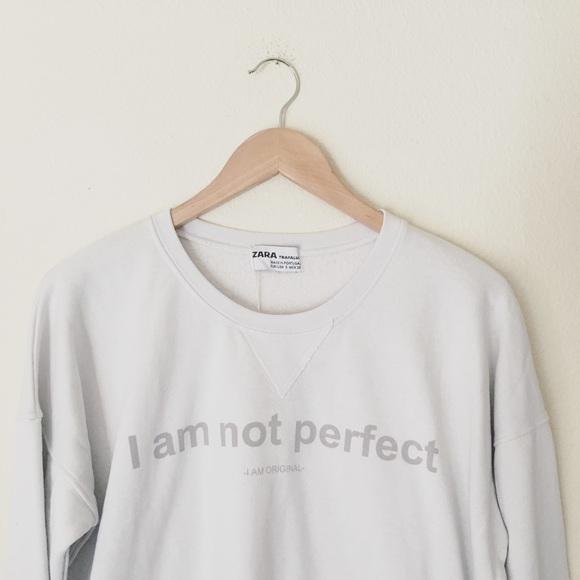 a3f1ed15 Zara Sweaters | Crop Sweatshirt Sz S | Poshmark