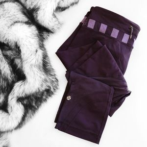 lululemon athletica Pants - Lululemon run inspire crop pants in purple