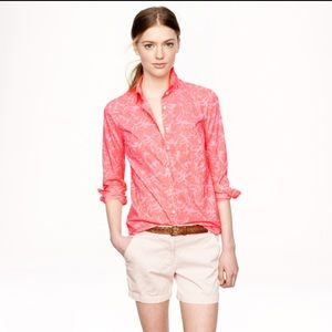 ⭐️ J. Crew boy shirt in pink tropical floral