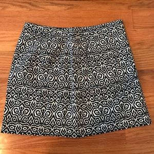 J. Crew size 4 blue and whit skirt