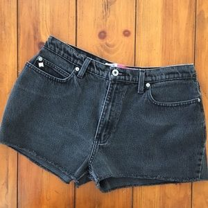 Faded Glory Pants - Cut Off Black Denim Shorts