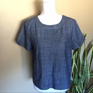 One Clothing Tops - One Clothing Denim Shortsleeve Top