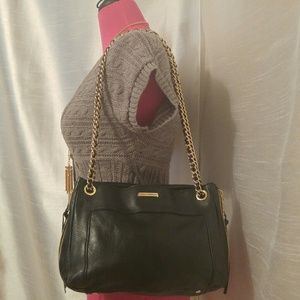 Rebecca Minkoff Handbags - 🔥Rebecca Minkoff Black Leather & Gold Swing Bag🔥