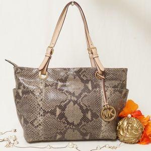 Michael Kors Handbags - EUC MICHAEL KORS PYTHON SHOULDER BAG