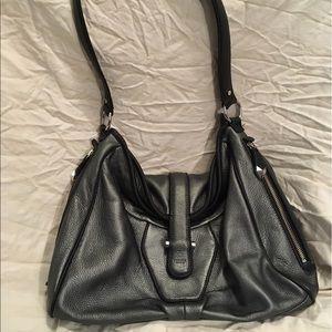 Perlina Handbags - Perlina silver leather tote purse