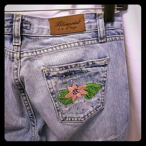 Blumarine Denim - BLUMARINE embroidered flower jeans (size 27)