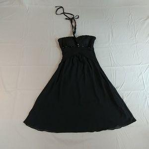 Dresses & Skirts - Adorable Little Black Dress- sequins, tie back- 8