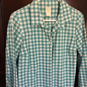 J.Crew Perfect Shirt in gingham
