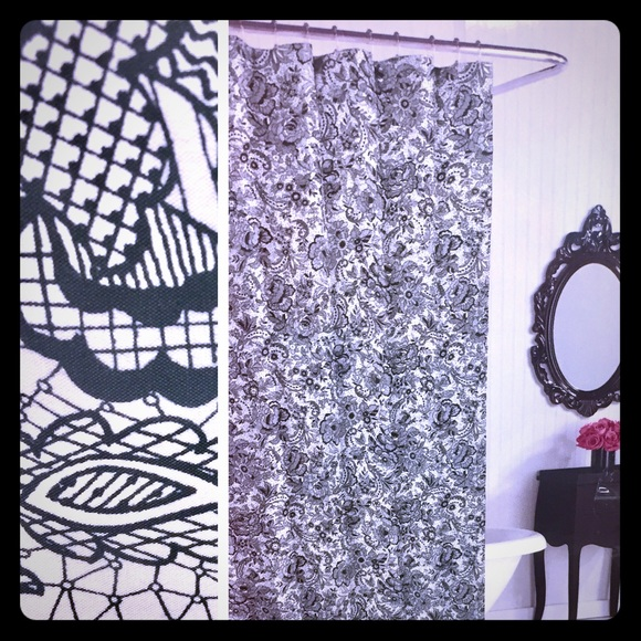 72x72 White Betsey Johnson Solid Microfiber Shower Curtain