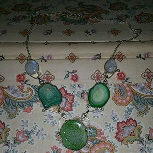 PRICE SLASHED ON SOLAR  Druzy  Moon stone Necklace